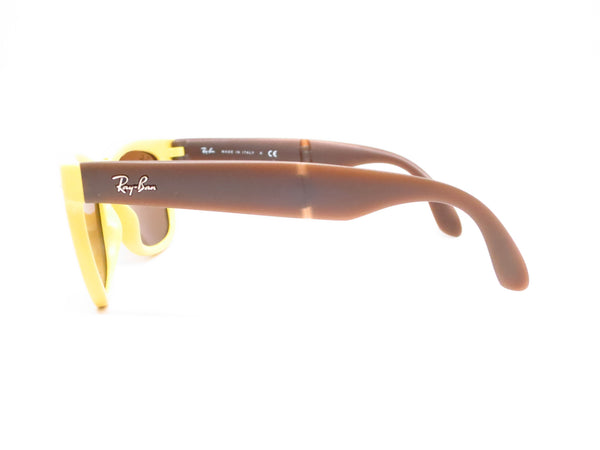 Ray-Ban RB 4105 Folding Wayfarer 6051/93 Yellow/Brown Sunglasses - Eye Heart Shades - Ray-Ban - Sunglasses - 5