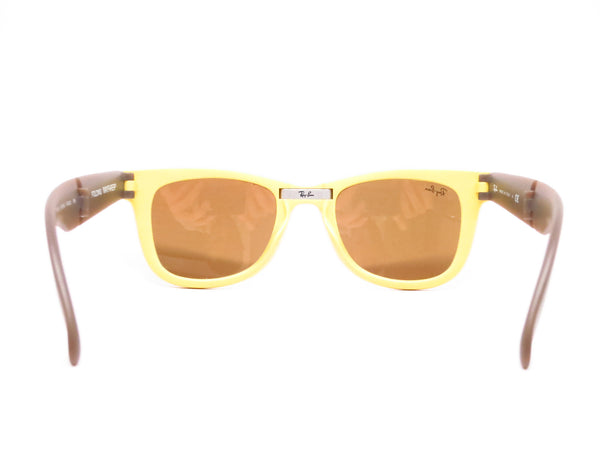 Ray-Ban RB 4105 Folding Wayfarer 6051/93 Yellow/Brown Sunglasses - Eye Heart Shades - Ray-Ban - Sunglasses - 7