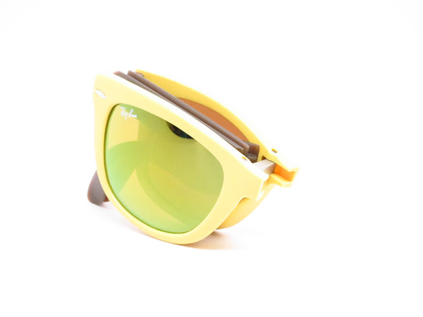 Ray-Ban RB 4105 Folding Wayfarer 6051/93 Yellow/Brown Sunglasses - Eye Heart Shades - Ray-Ban - Sunglasses - 8