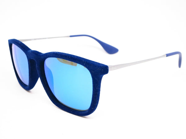 Ray-Ban RB 4187 Chris 6081/55 Flock Blue Sunglasses