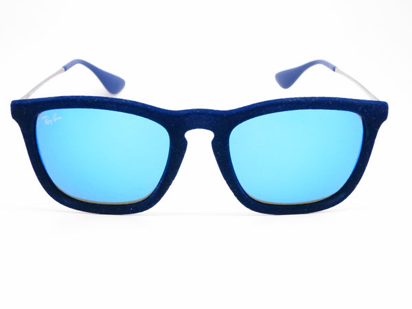 Ray-Ban RB 4187 Chris 6081/55 Flock Blue Sunglasses - Eye Heart Shades - Ray-Ban - Sunglasses - 2
