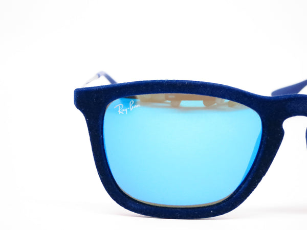 Ray-Ban RB 4187 Chris 6081/55 Flock Blue Sunglasses - Eye Heart Shades - Ray-Ban - Sunglasses - 4