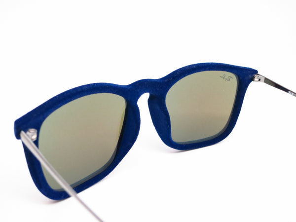 Ray-Ban RB 4187 Chris 6081/55 Flock Blue Sunglasses - Eye Heart Shades - Ray-Ban - Sunglasses - 6