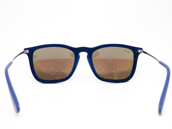 Ray-Ban RB 4187 Chris 6081/55 Flock Blue Sunglasses - Eye Heart Shades - Ray-Ban - Sunglasses - 7