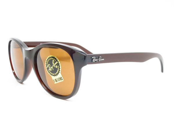 03ea081410 Ray-Ban RB 4203 Highstreet 714 Shiny Brown Sunglasses - Eye Heart Shades -  Ray
