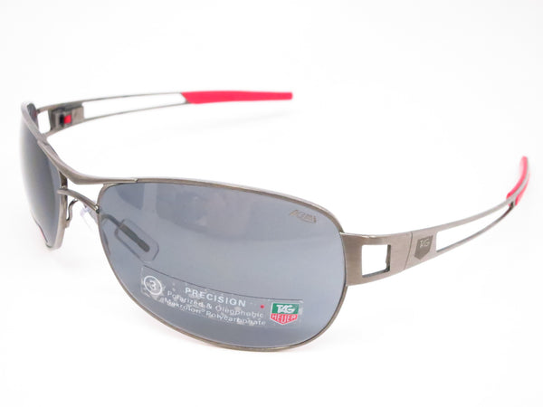 Tag Heuer TH 0204 Speedway 101 Gunmetal/Red Polarized Sunglasses - Eye Heart Shades - Tag Heuer - Sunglasses - 1
