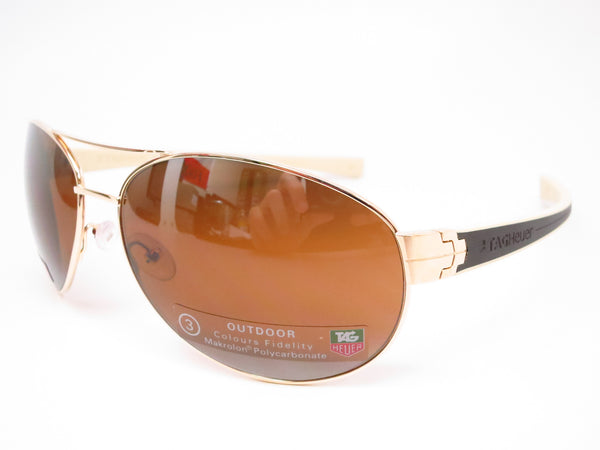 Tag Heuer TH 0253 LRS 705 Gold/Brown-Ivory Temple Sunglasses - Eye Heart Shades - Tag Heuer - Sunglasses - 1