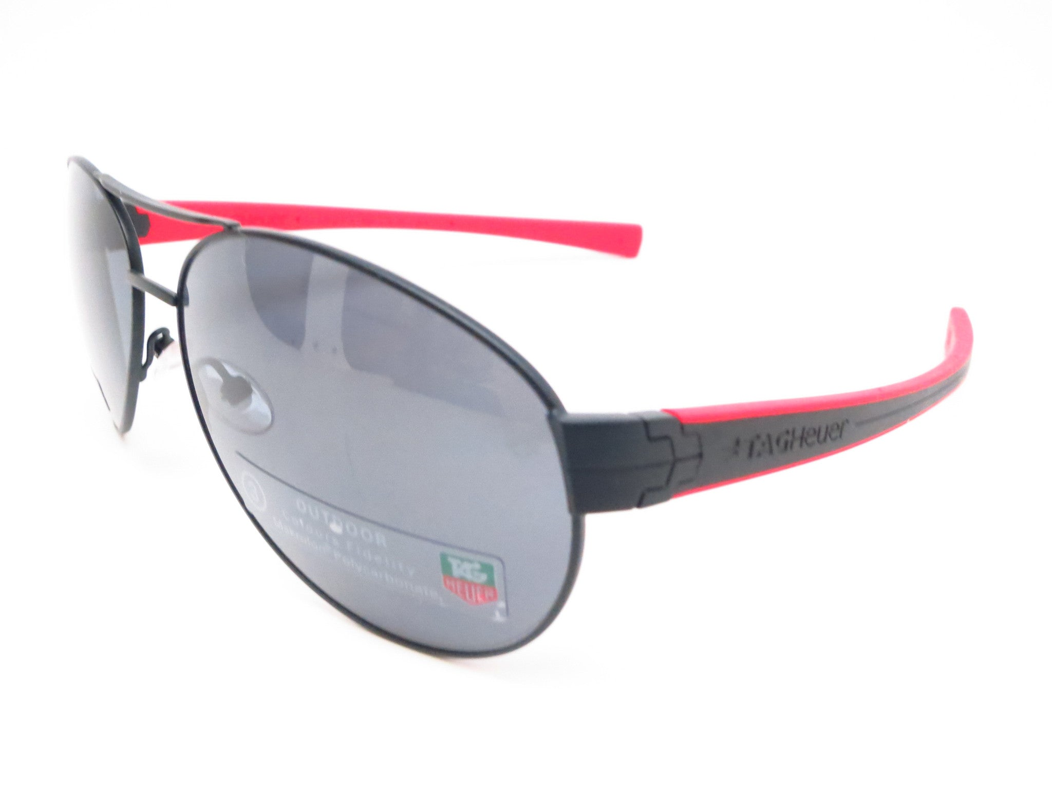 Tag Heuer TH 0256 LRS 110 Red / Matte Black Sunglasses - Eye Heart ...