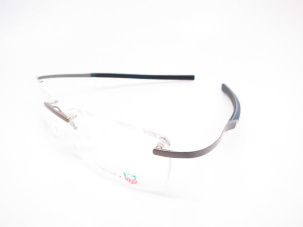 Tag Heuer TH 0344 003 Silver/Blue Spring Rubber Carbon Eyeglasses - Eye Heart Shades - Tag Heuer - Eyeglasses - 1