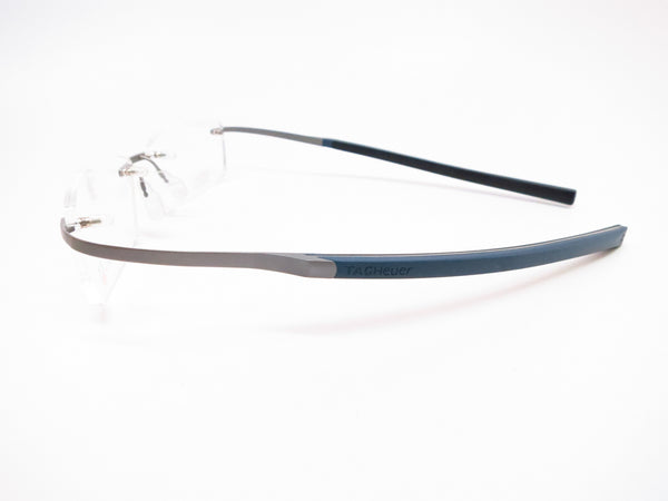 Tag Heuer TH 0344 003 Silver/Blue Spring Rubber Carbon Eyeglasses - Eye Heart Shades - Tag Heuer - Eyeglasses - 5
