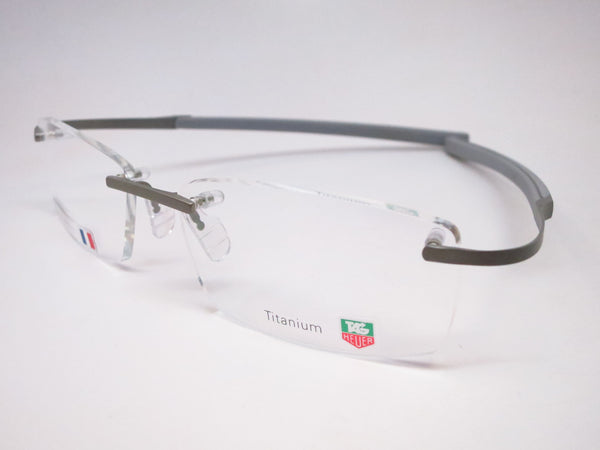 Tag Heuer TH 0344 009 Titanium / Silver Spring Rubber Eyeglasses - Eye Heart Shades - Tag Heuer - Eyeglasses - 1