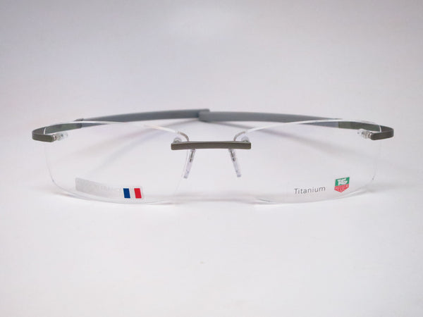 Tag Heuer TH 0344 009 Titanium / Silver Spring Rubber Eyeglasses - Eye Heart Shades - Tag Heuer - Eyeglasses - 2