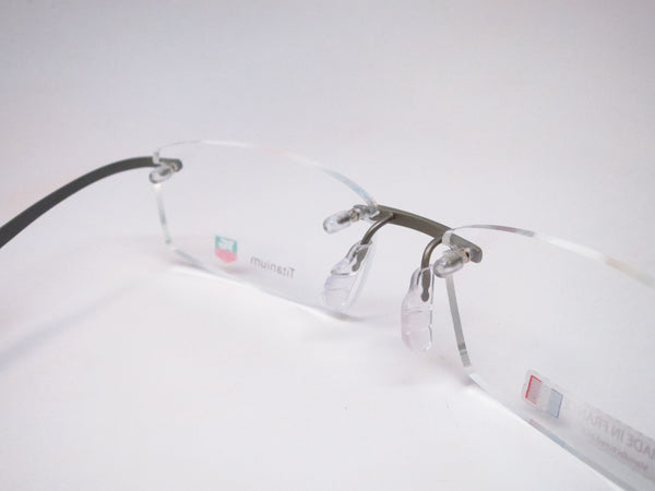 Tag Heuer TH 0344 009 Titanium / Silver Spring Rubber Eyeglasses - Eye Heart Shades - Tag Heuer - Eyeglasses - 3