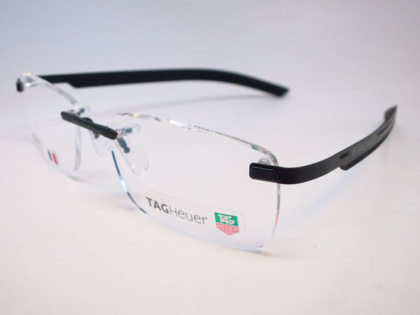 Tag Heuer TH 3842 001 Black Line Rimless Eyeglasses - Eye Heart Shades - Tag Heuer - Eyeglasses - 1