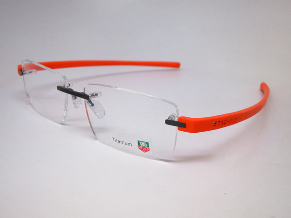 Tag Heuer TH 3941 006 Orange Reflex 3 Rimless Eyeglasses - Eye Heart Shades - Tag Heuer - Eyeglasses - 1