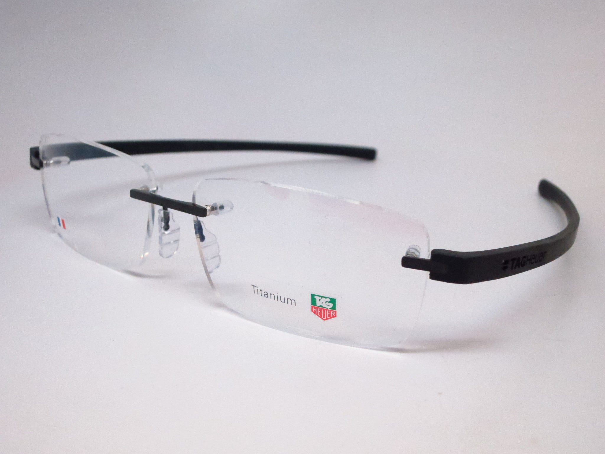 Tag Heuer Eyeglasses Frame Replacement Parts : Tag Heuer TH 3942 001 Black Reflex 3 Rimless Eyeglasses ...