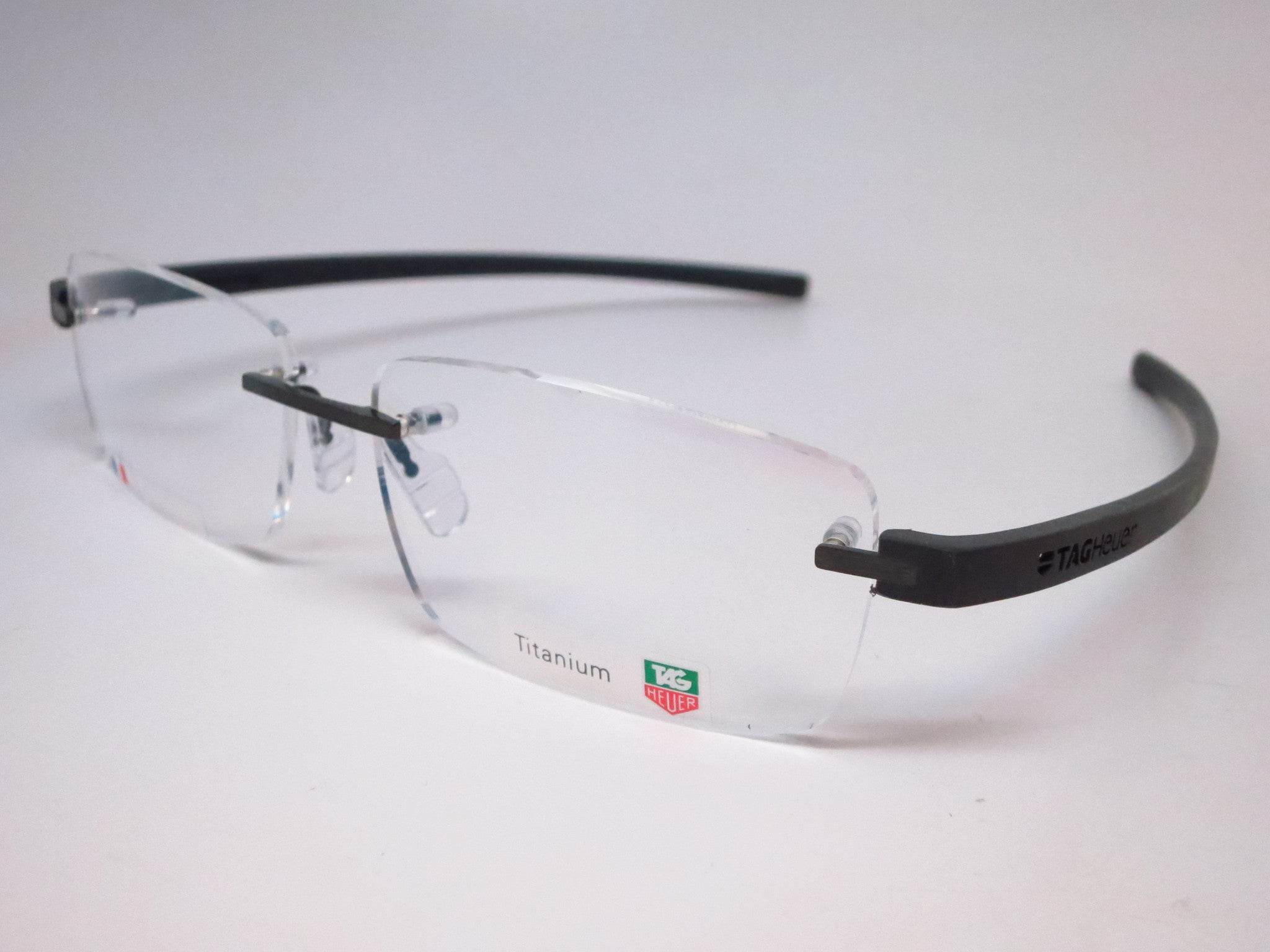 bc410bd45f Tag Heuer TH 3942 005 Black Gunmetal Reflex 3 Rimless Eyeglasses ...