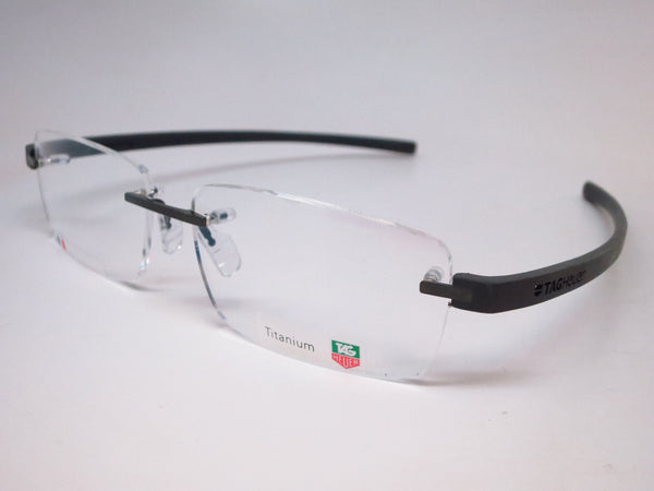 Tag Heuer TH 3942 005 Black Gunmetal Reflex 3 Rimless Eyeglasses