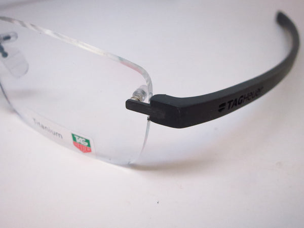 Tag Heuer TH 3942 005 Black Gunmetal Reflex 3 Rimless Eyeglasses - Eye Heart Shades - Tag Heuer - Eyeglasses - 4