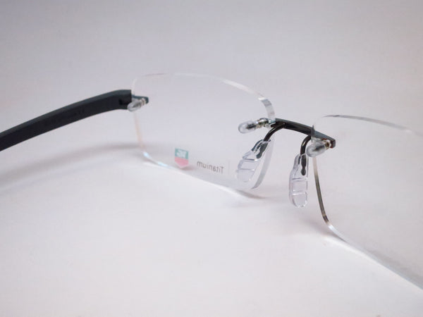 Tag Heuer TH 3942 005 Black Gunmetal Reflex 3 Rimless Eyeglasses - Eye Heart Shades - Tag Heuer - Eyeglasses - 5