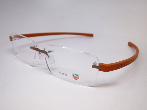 Tag Heuer TH 3942 007 Light Brown Titanium Reflex 3 Eyeglasses - Eye Heart Shades - Tag Heuer - Eyeglasses - 1