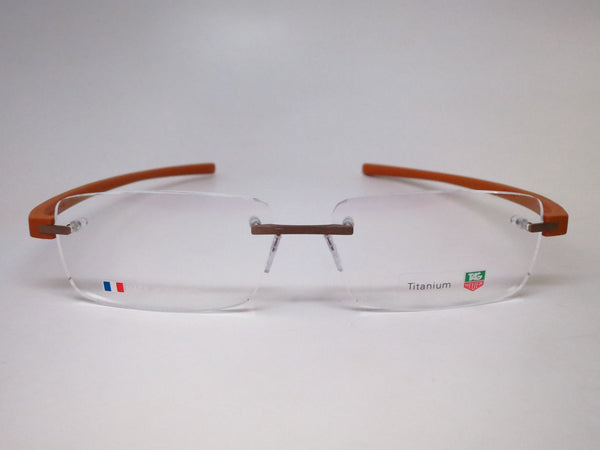 Tag Heuer TH 3942 007 Light Brown Titanium Reflex 3 Eyeglasses - Eye Heart Shades - Tag Heuer - Eyeglasses - 2