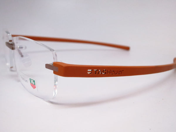 Tag Heuer TH 3942 007 Light Brown Titanium Reflex 3 Eyeglasses - Eye Heart Shades - Tag Heuer - Eyeglasses - 3