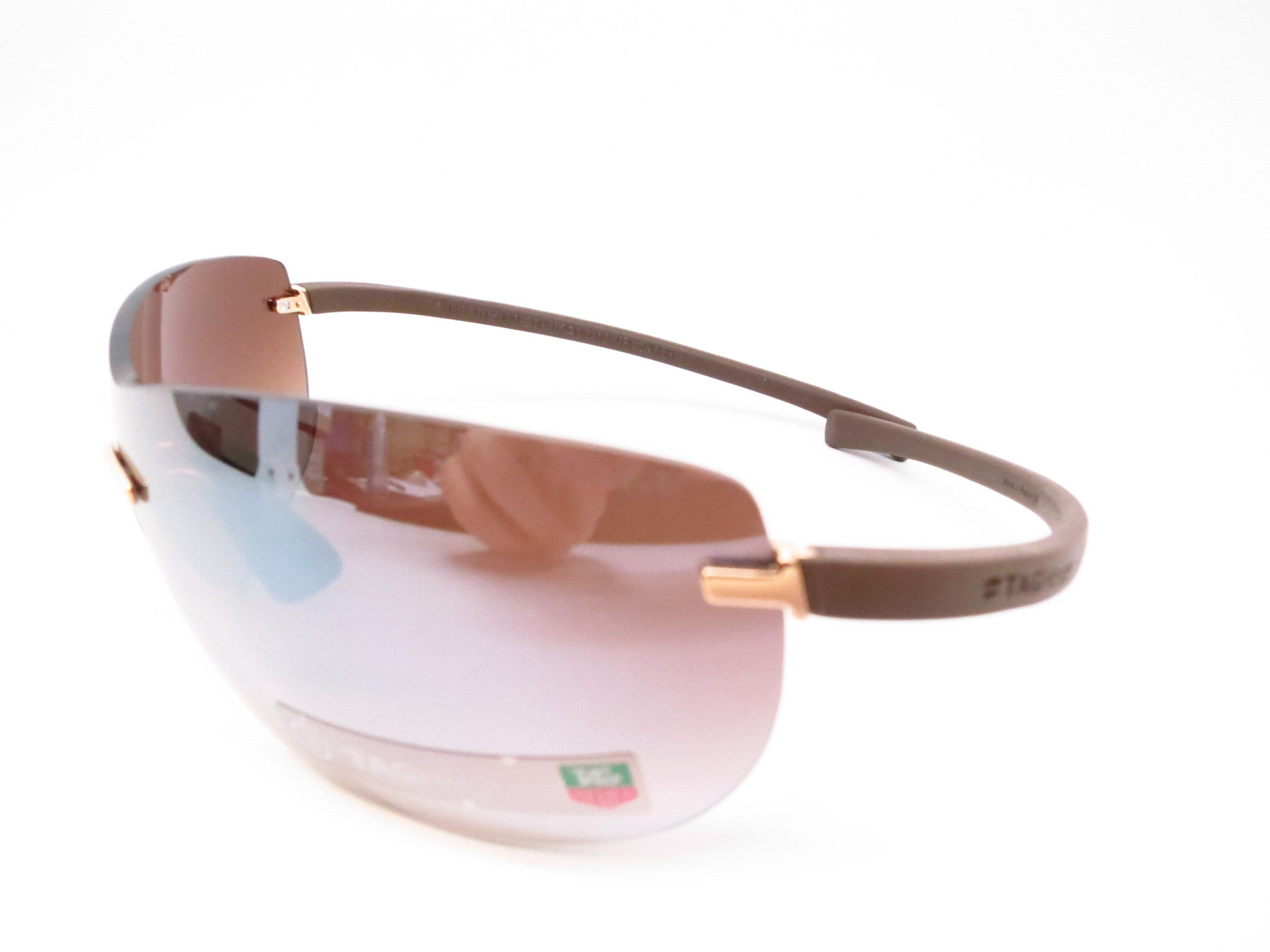 Tag Heuer TH 5109 203 Brown Rimless Curve Zenith Sunglasses - Eye ...