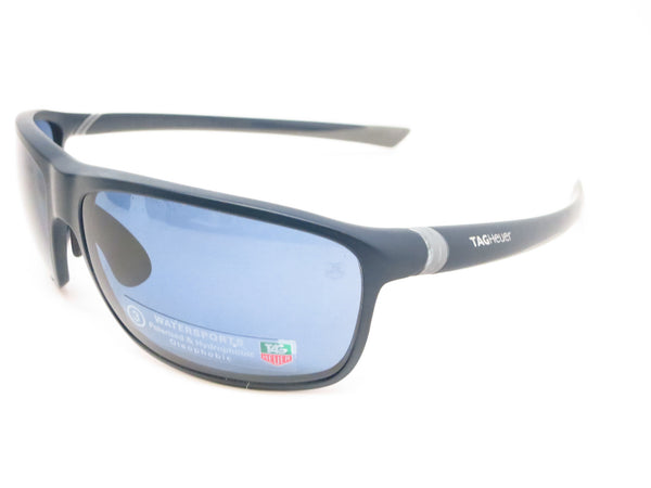 Tag Heuer TH 6023 27 Sport 403 Matte Dark Blue/Light Grey Polarized Sunglasses - Eye Heart Shades - Tag Heuer - Sunglasses - 1