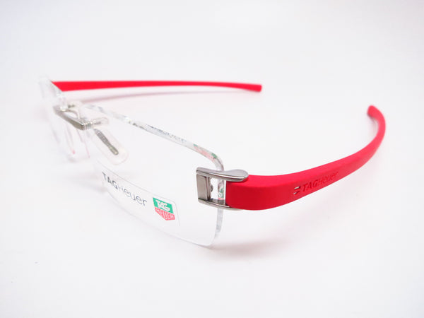 Tag Heuer TH 7102 003 Red Rubber Eyeglasses - Eye Heart Shades - Tag Heuer - Eyeglasses - 1
