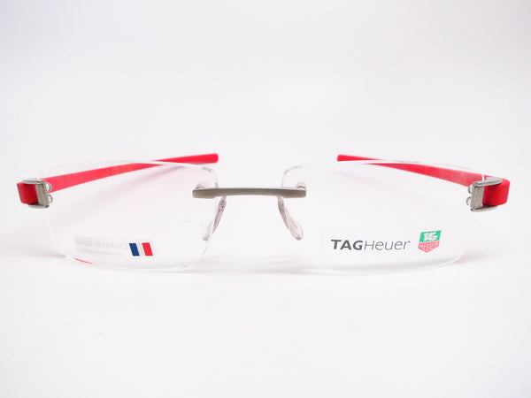 Tag Heuer TH 7102 003 Red Rubber Eyeglasses - Eye Heart Shades - Tag Heuer - Eyeglasses - 2