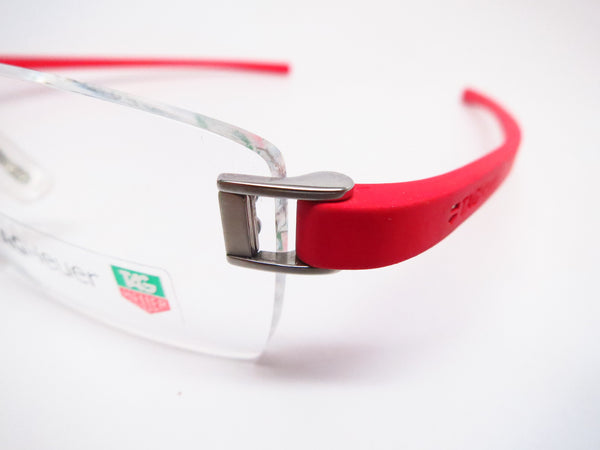 Tag Heuer TH 7102 003 Red Rubber Eyeglasses - Eye Heart Shades - Tag Heuer - Eyeglasses - 3
