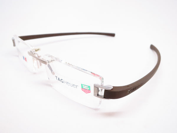 Tag Heuer TH 7505 202 Brown Rubber Eyeglasses - Eye Heart Shades - Tag Heuer - Eyeglasses - 1