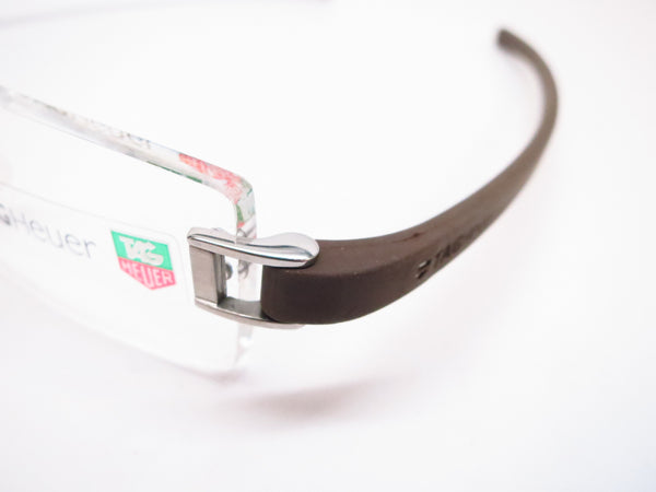 Tag Heuer TH 7505 202 Brown Rubber Eyeglasses - Eye Heart Shades - Tag Heuer - Eyeglasses - 3