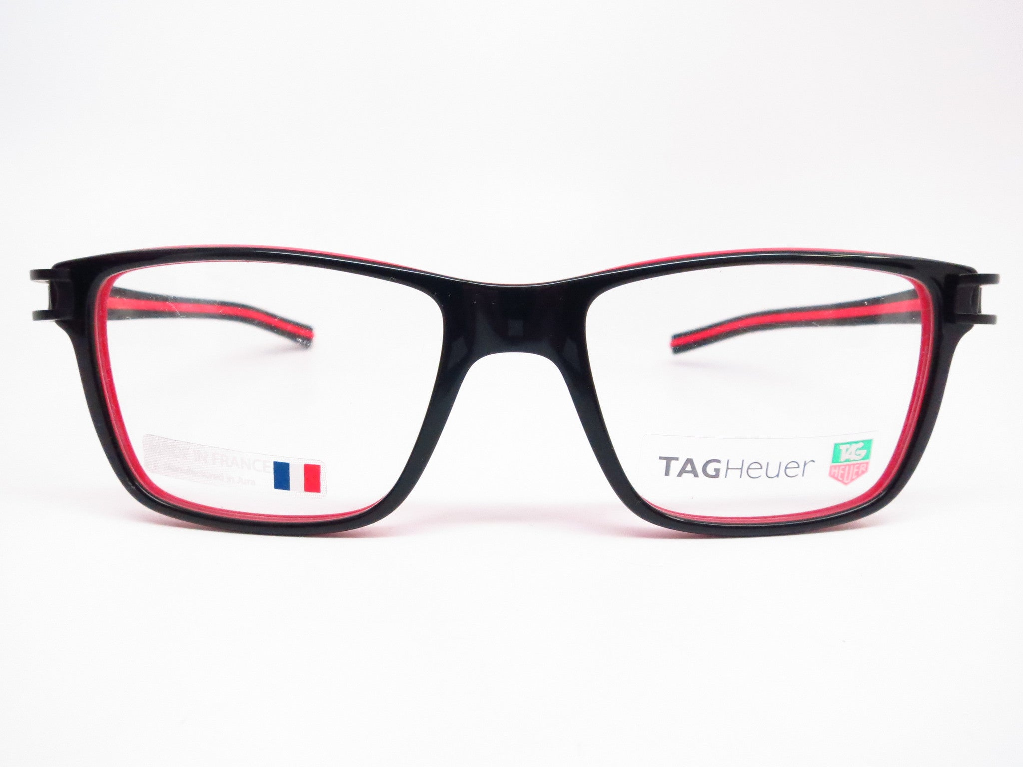e43447d3368 ... Tag Heuer TH 7601 001 Black   Red Track-S Eyeglasses - Eye Heart Shades  ...
