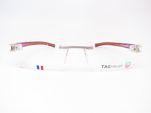 Tag Heuer TH 7641 004 Black / Orange Track-S Rimless Eyeglasses - Eye Heart Shades - Tag Heuer - Eyeglasses - 2