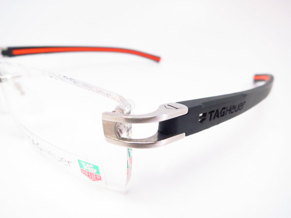 Tag Heuer TH 7641 004 Black / Orange Track-S Rimless Eyeglasses - Eye Heart Shades - Tag Heuer - Eyeglasses - 3
