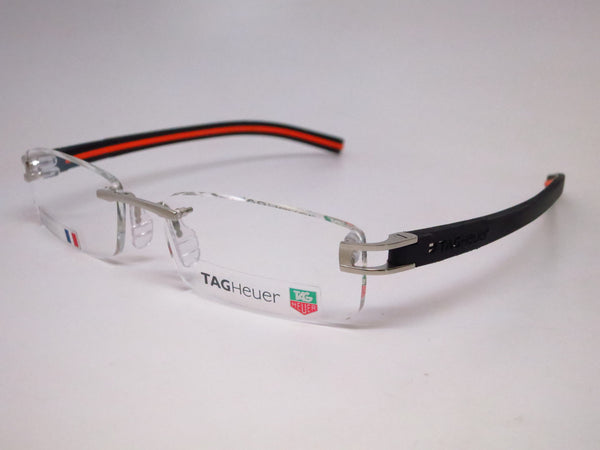 Tag Heuer TH 7642 004 Silver / Black / Orange Track-S Eyeglasses - Eye Heart Shades - Tag Heuer - Eyeglasses - 1