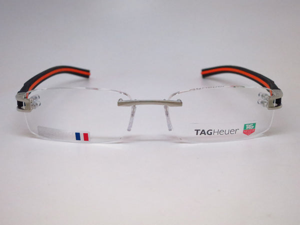 Tag Heuer TH 7642 004 Silver / Black / Orange Track-S Eyeglasses - Eye Heart Shades - Tag Heuer - Eyeglasses - 2