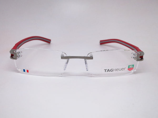 Tag Heuer TH 7642 013 Grey / Red Track-S Rimless Eyeglasses - Eye Heart Shades - Tag Heuer - Eyeglasses - 2