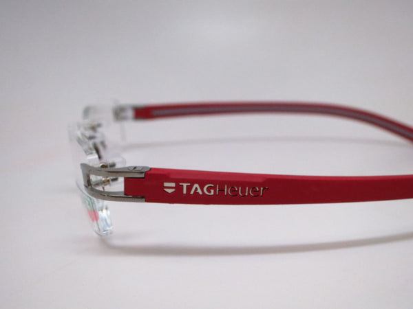 Tag Heuer TH 7642 013 Grey / Red Track-S Rimless Eyeglasses - Eye Heart Shades - Tag Heuer - Eyeglasses - 5