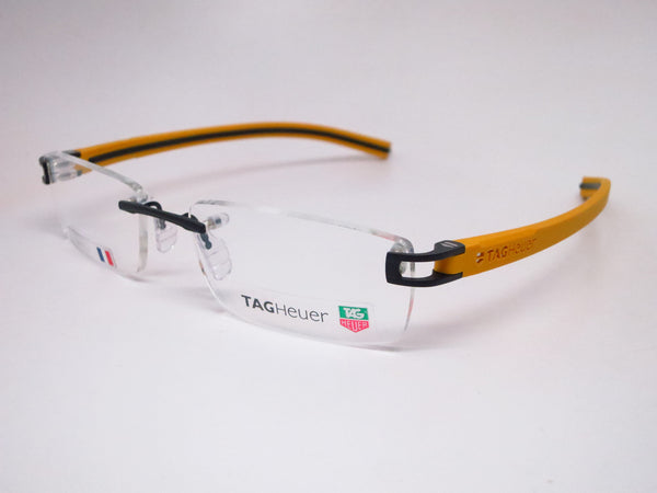Tag Heuer TH 7643 012 Black / Yellow Track-S Rimless Eyeglasses - Eye Heart Shades - Tag Heuer - Eyeglasses - 1