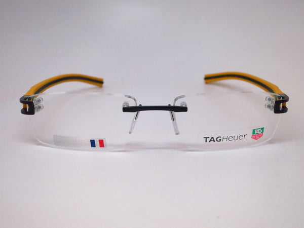 Tag Heuer TH 7643 012 Black / Yellow Track-S Rimless Eyeglasses - Eye Heart Shades - Tag Heuer - Eyeglasses - 2