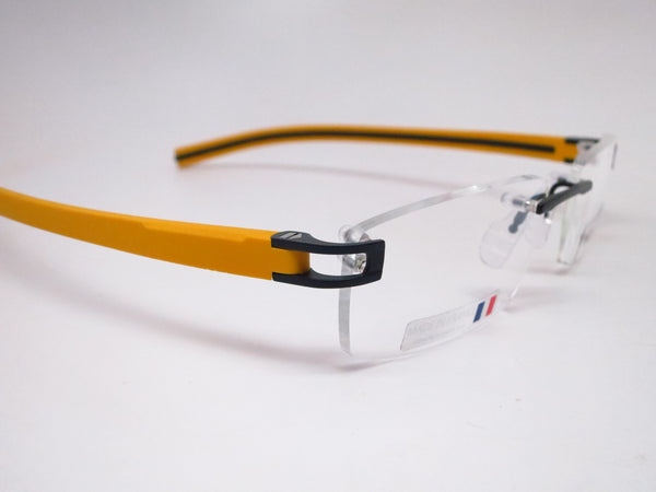 Tag Heuer TH 7643 012 Black / Yellow Track-S Rimless Eyeglasses - Eye Heart Shades - Tag Heuer - Eyeglasses - 3