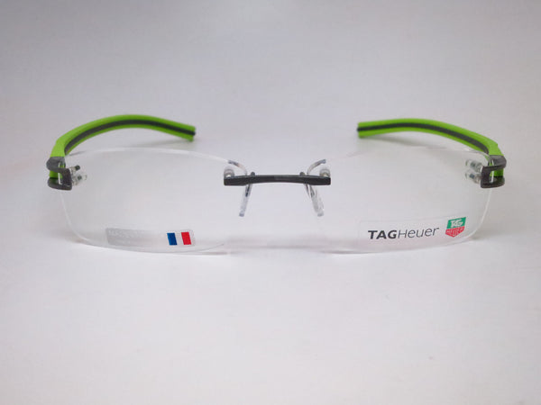 Tag Heuer TH  7643 014 Grey / Green Track-S Rimless Eyeglasses - Eye Heart Shades - Tag Heuer - Eyeglasses - 2