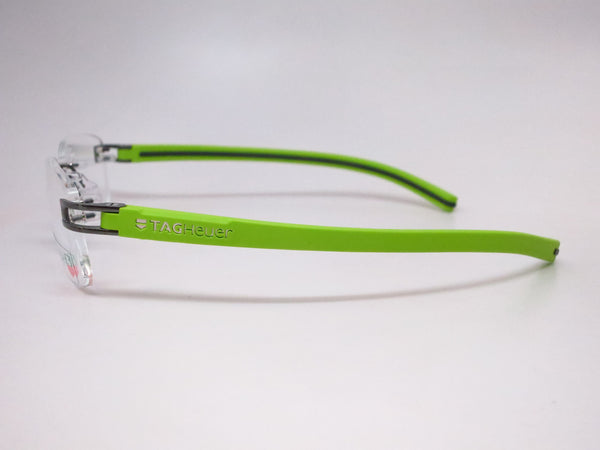 Tag Heuer TH  7643 014 Grey / Green Track-S Rimless Eyeglasses - Eye Heart Shades - Tag Heuer - Eyeglasses - 5
