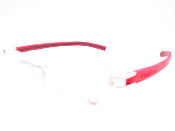 Tag Heuer TH 7644 005 Red / Black Track-S Rimless Eyeglasses - Eye Heart Shades - Tag Heuer - Eyeglasses - 1