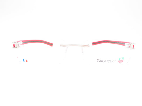 Tag Heuer TH 7644 005 Red / Black Track-S Rimless Eyeglasses - Eye Heart Shades - Tag Heuer - Eyeglasses - 2