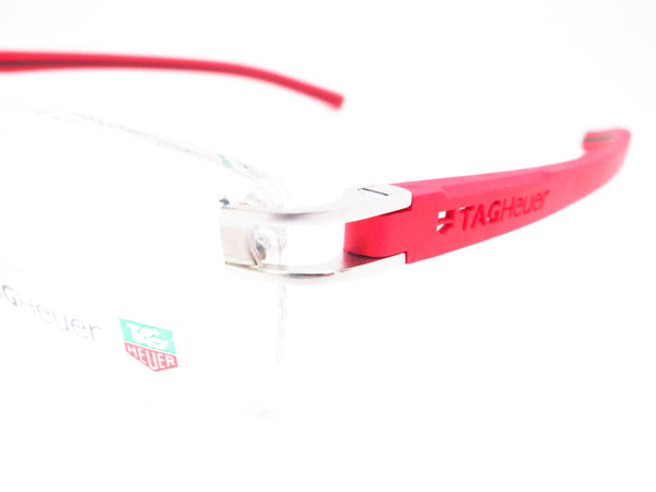 Tag Heuer TH 7644 005 Red / Black Track-S Rimless Eyeglasses - Eye Heart Shades - Tag Heuer - Eyeglasses - 3