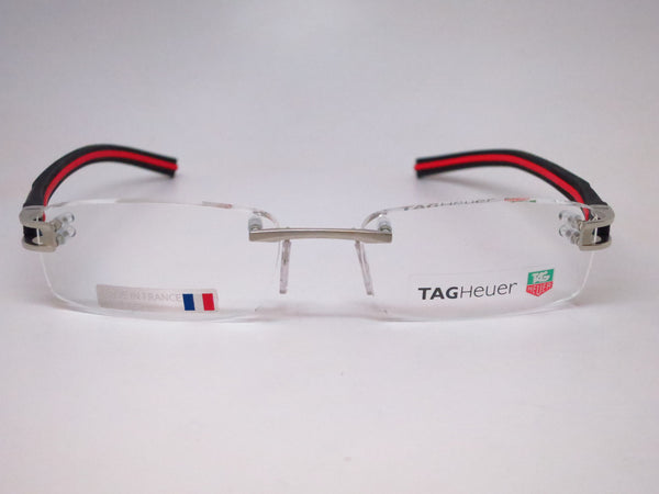 Tag Heuer TH 7645 002 Silver with Black & Red Track-S Eyeglasses - Eye Heart Shades - Tag Heuer - Eyeglasses - 2